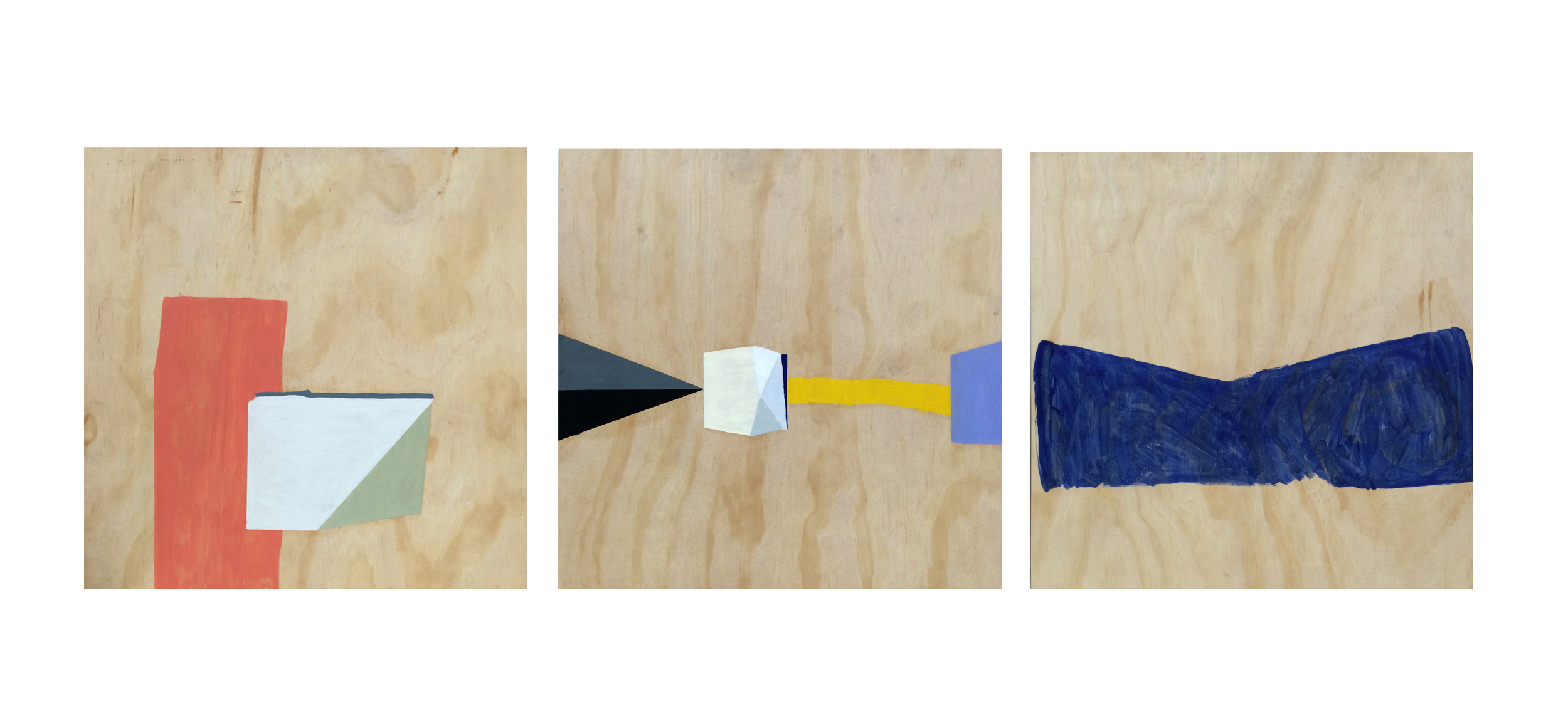 Thought piece, triptych - 50 x 150 cms, óleo sobre triplay