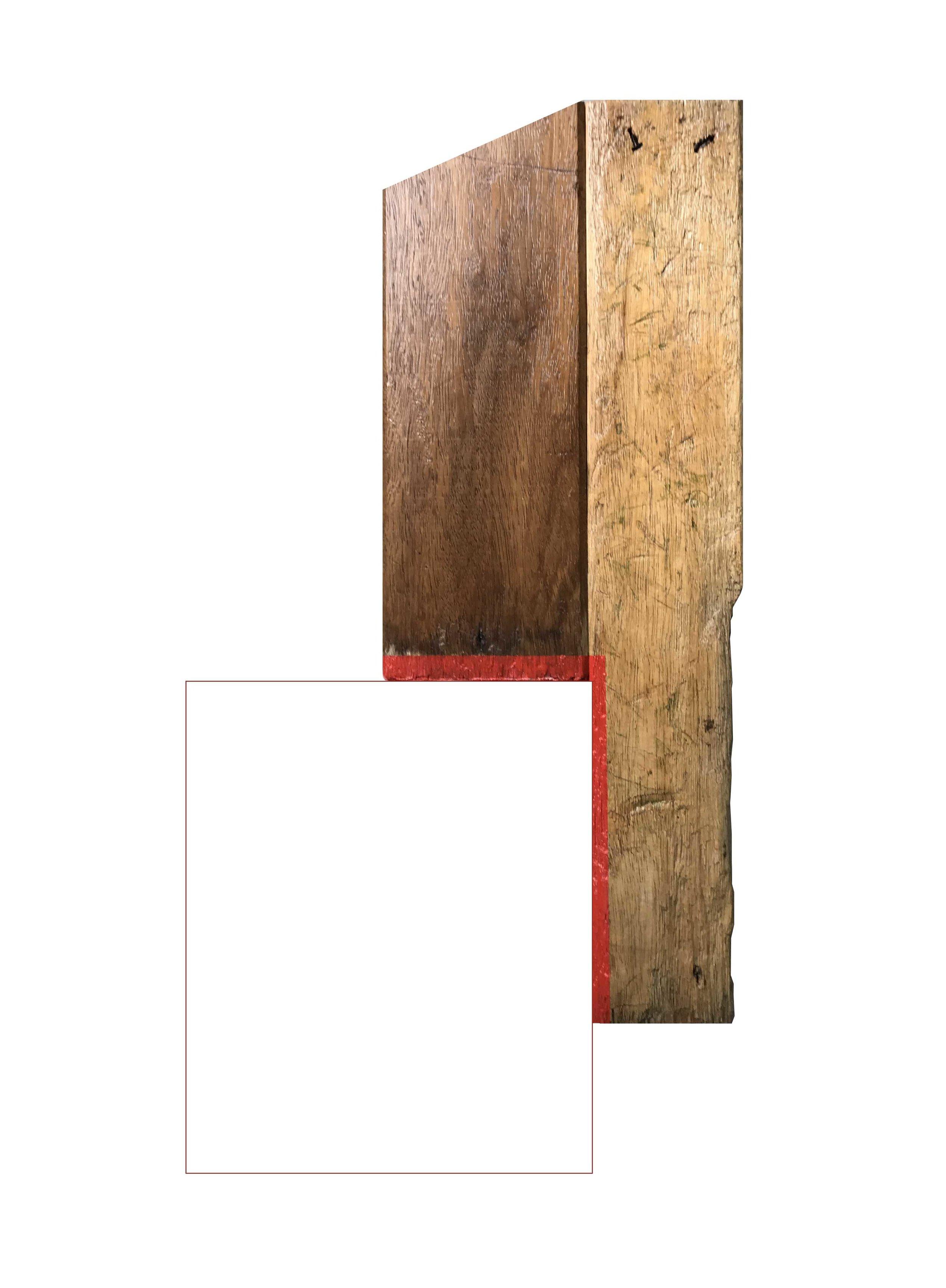 Rectángulo rojo, 110 x 60 cms
