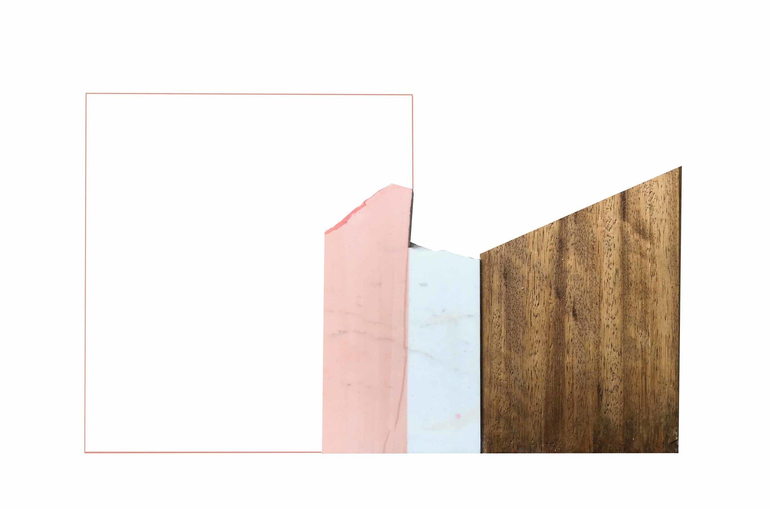 Rectangulo Rosado, 45 x 70 cms
