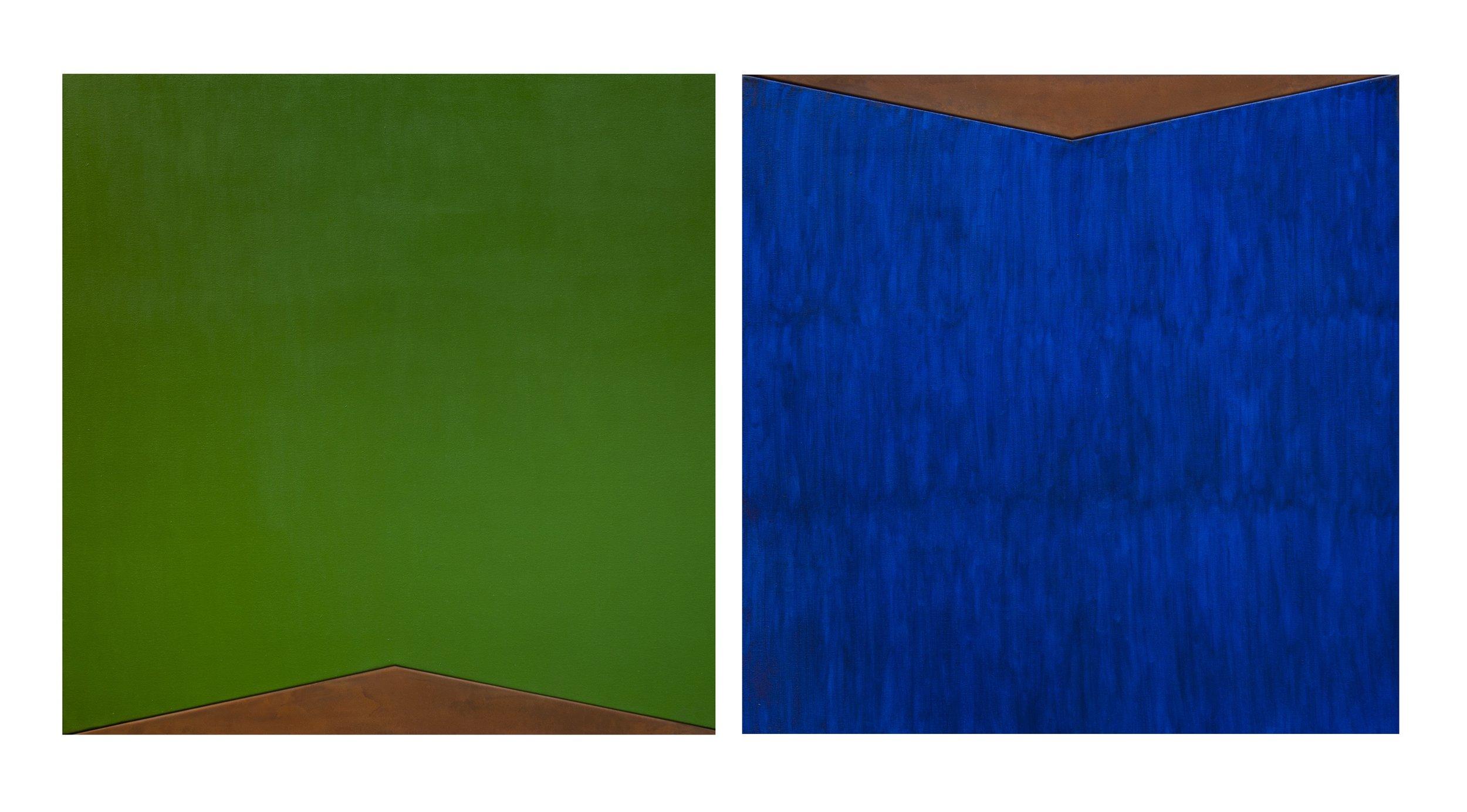 Resistencia #1 y #2, 80 x 160 cms