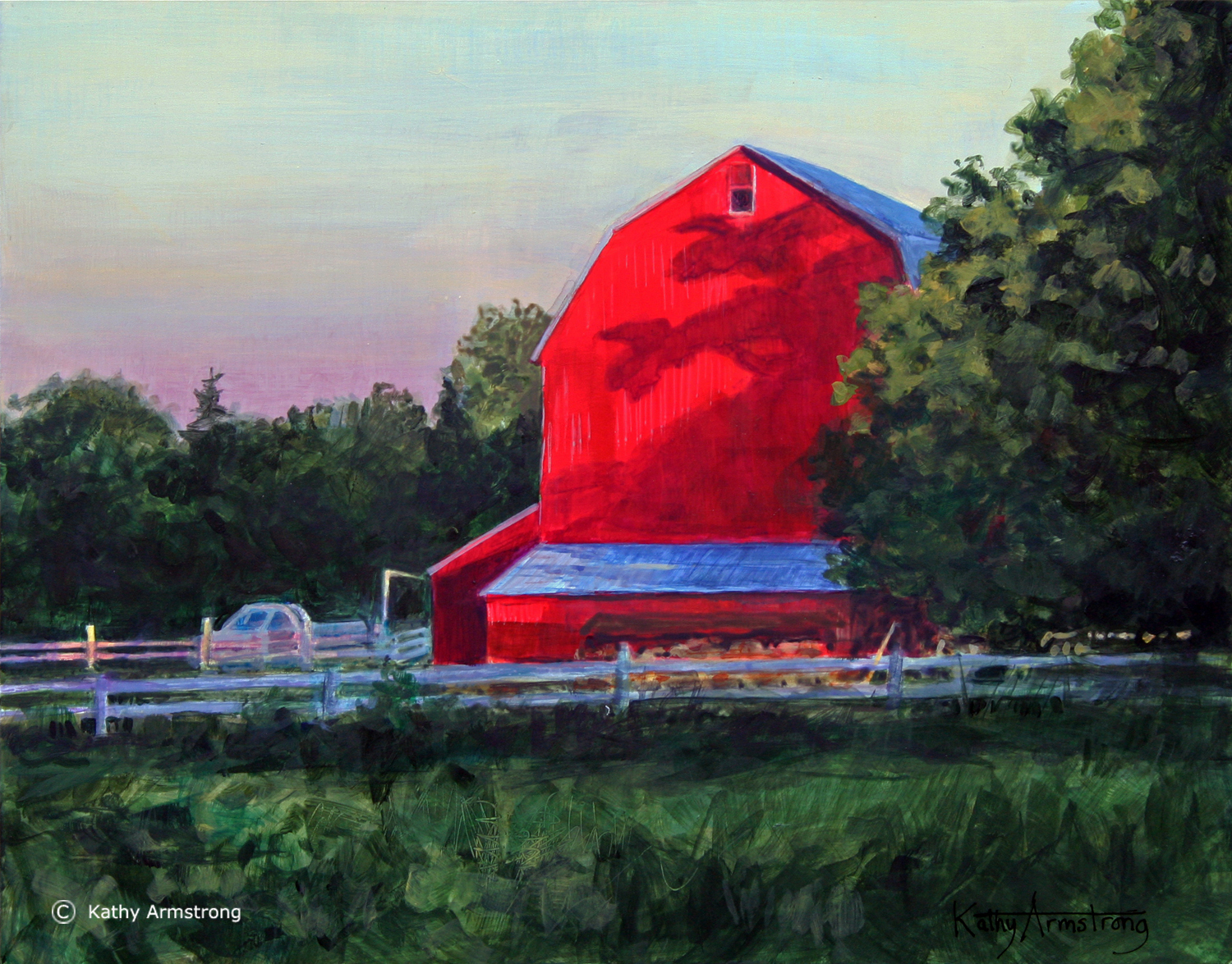 """Red Barn at Dusk"""