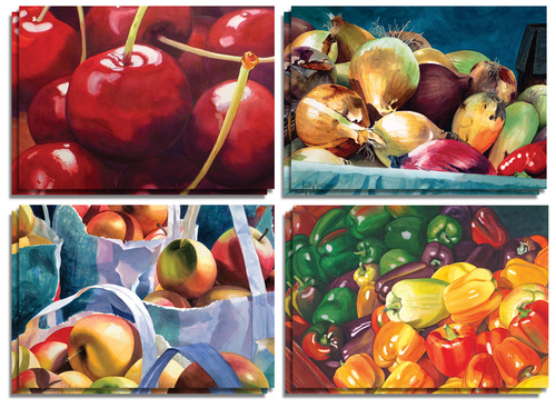 Farmer's Market Note Cards - $12