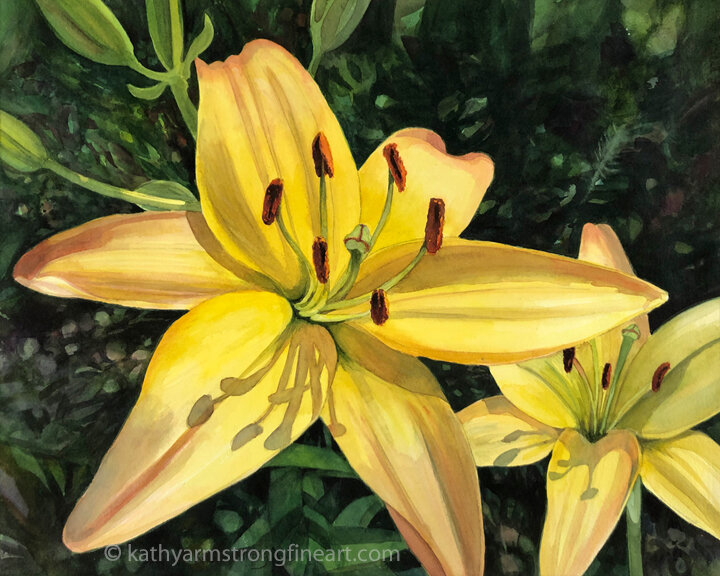"""Yellow Asiatic Lily"""