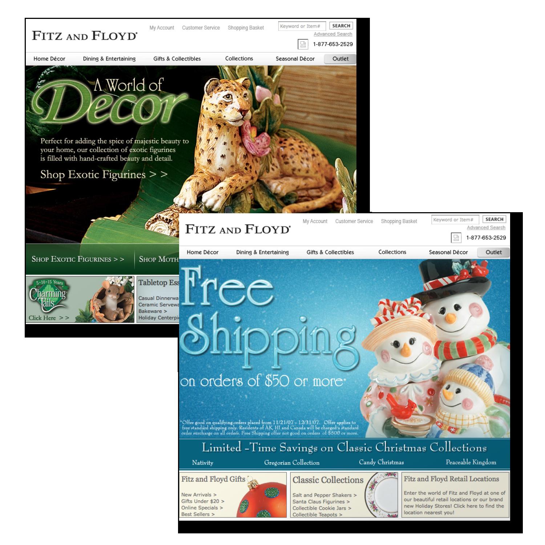 Fitz & Floyd  Website Design