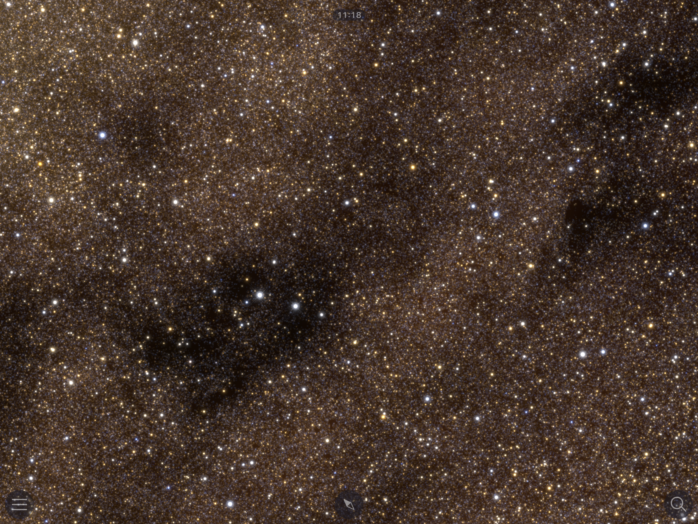 After: dark nebulae are much more defined