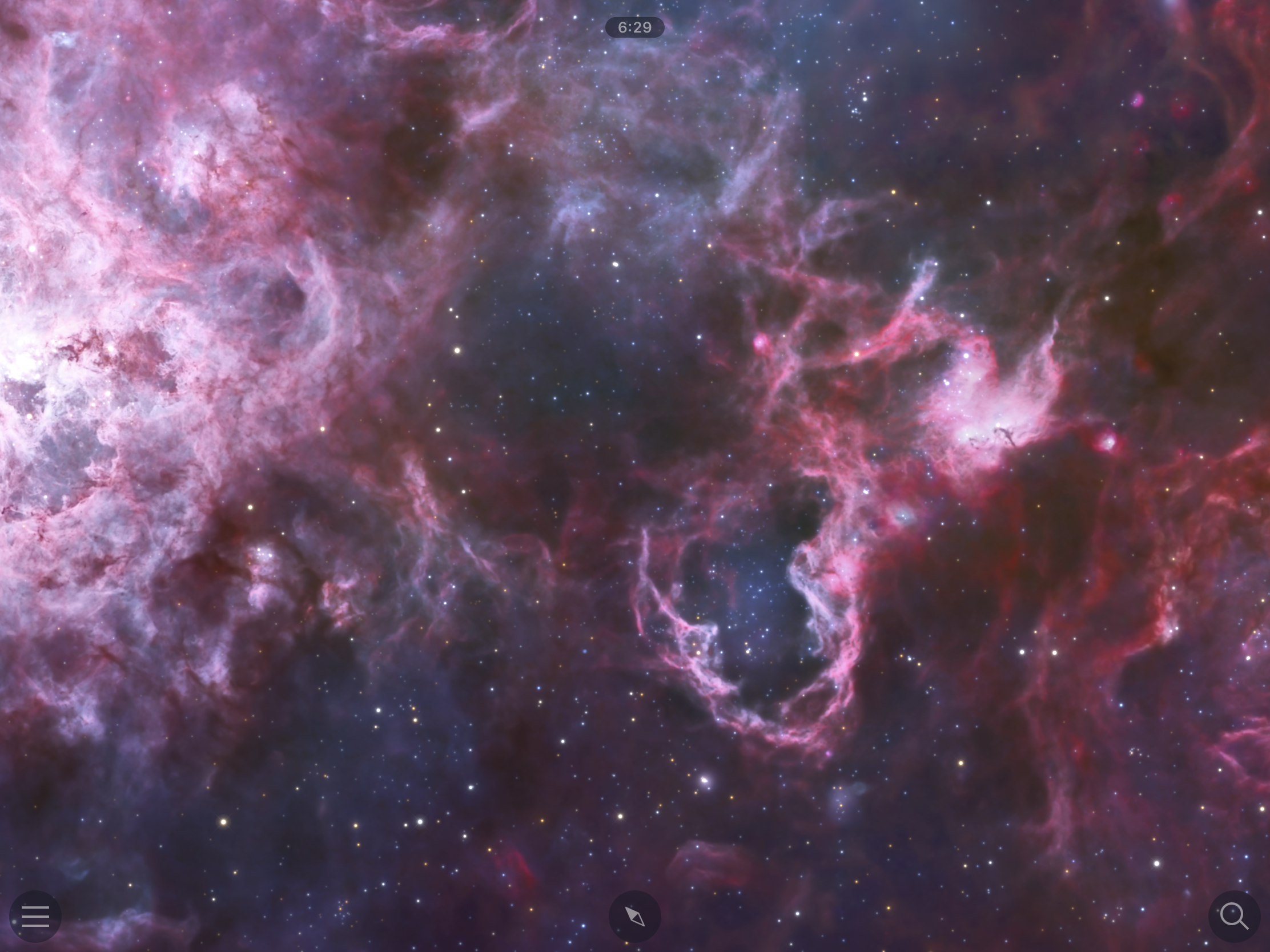 Before: Tarantula nebula region of the LMC