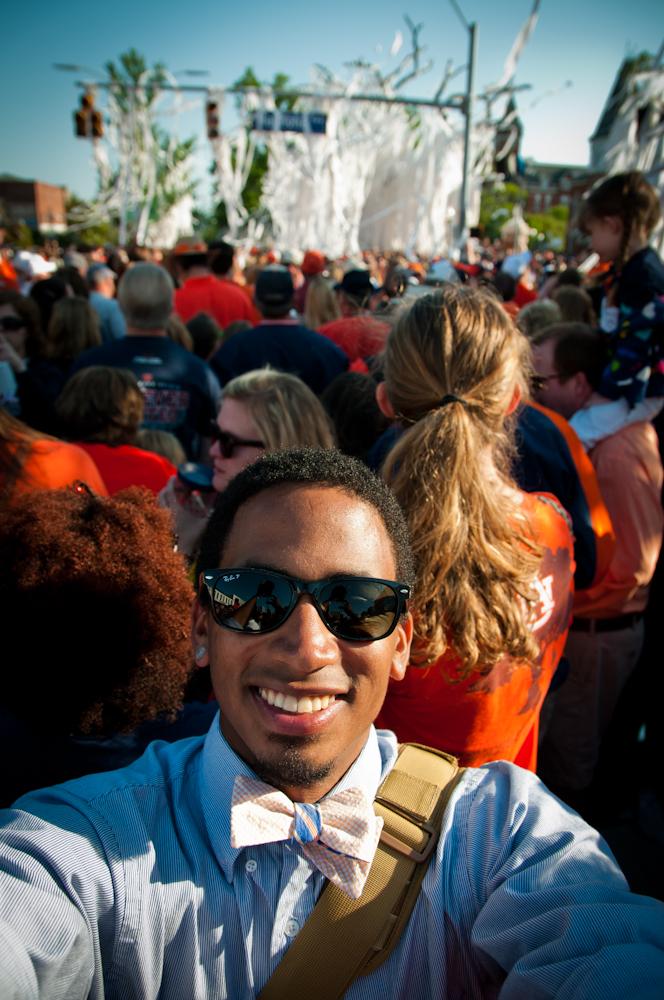 Celebrating the final rolling of Toomer's Oaks in Auburn, AL.
