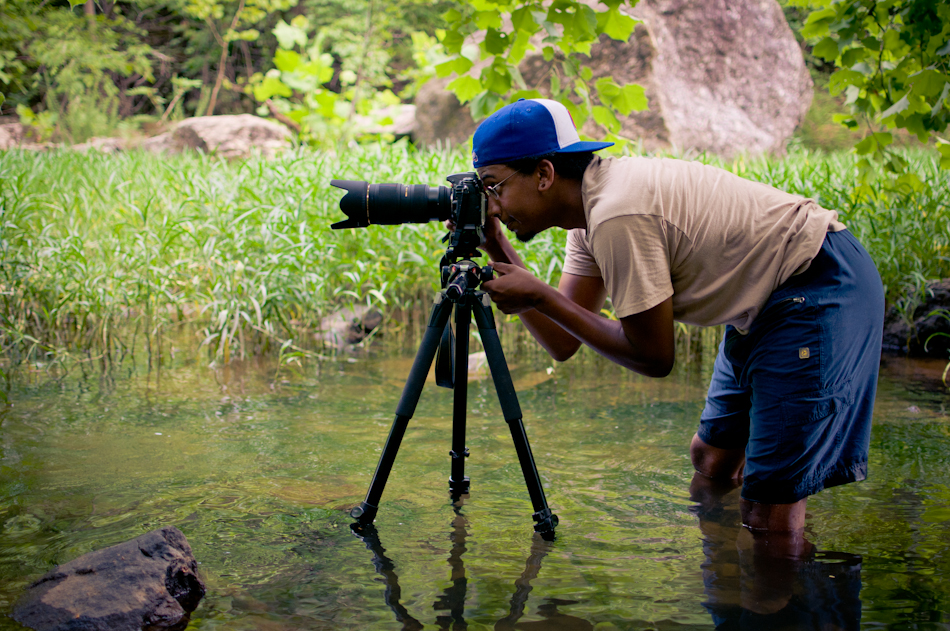 Shooting in Chewacla State Park, Auburn, AL. Photo:  Philip Darden