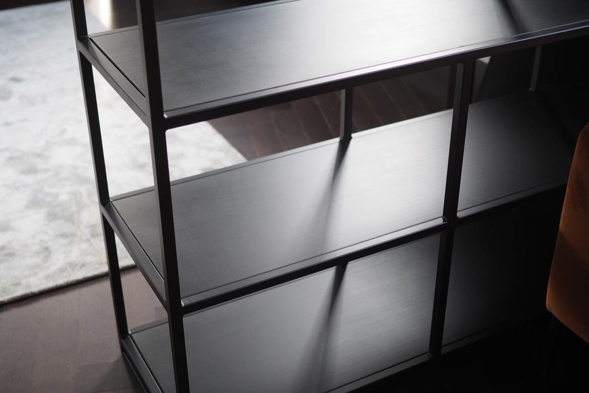 matte black metal frame shelving unit wooden shelves.jpg