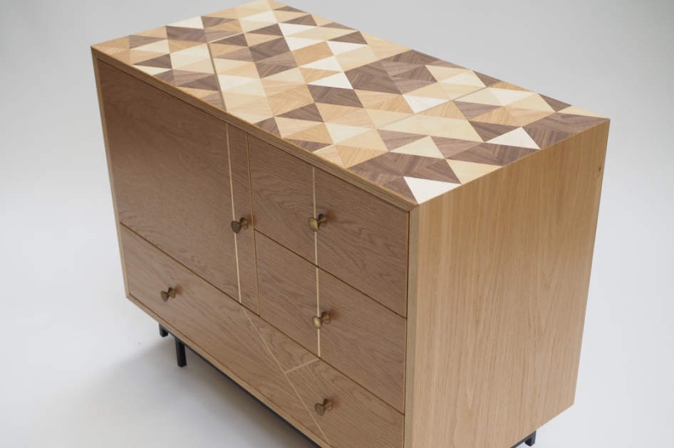 marquetry cabinet oak and brass.jpg