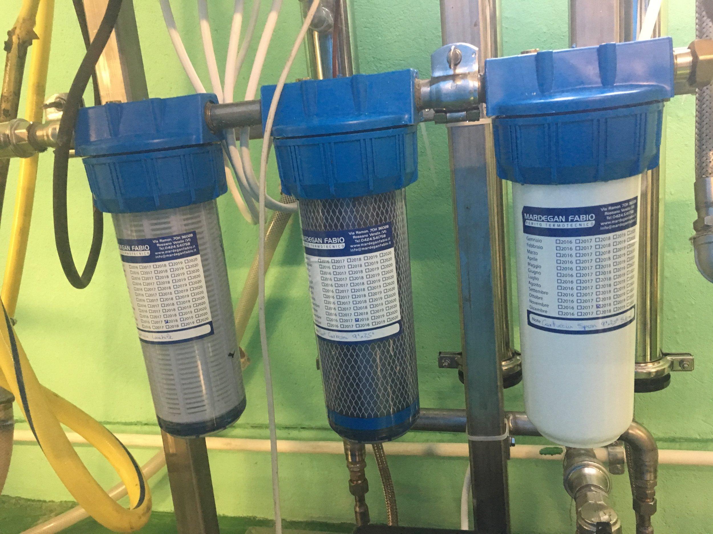 Filtro Grossolano, Filtro a carboni Attivi e Filtro di sicurezza