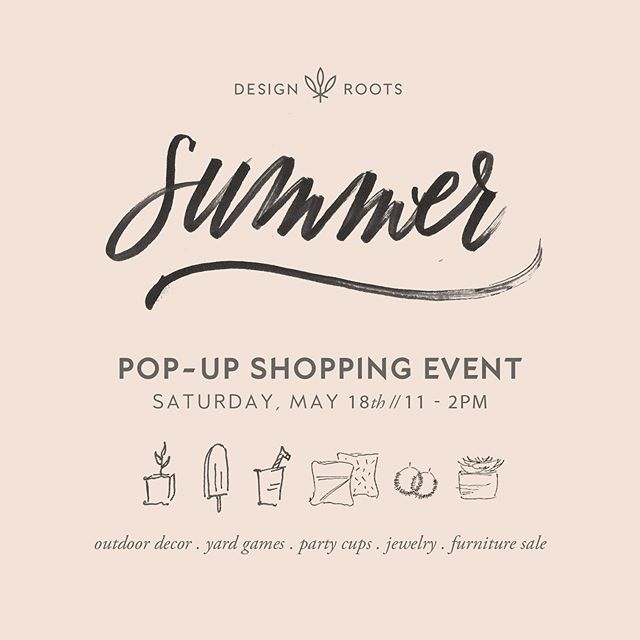 This Saturday y'all! Come on out, grab a drink, say hello + shop some great local vendors! And to make things more fun, we are giving away a $50 gift card to spend in our showroom this weekend!! To enter, tag a friend below. Each tag is an entry. Gift card to be used in shop on Saturday only. // Saturday, May 18th from 11-2pm // 4252 Marsh Ridge Road 🌿 #designroots #popupshop #summer #outdoorliving #outdoorfurniture