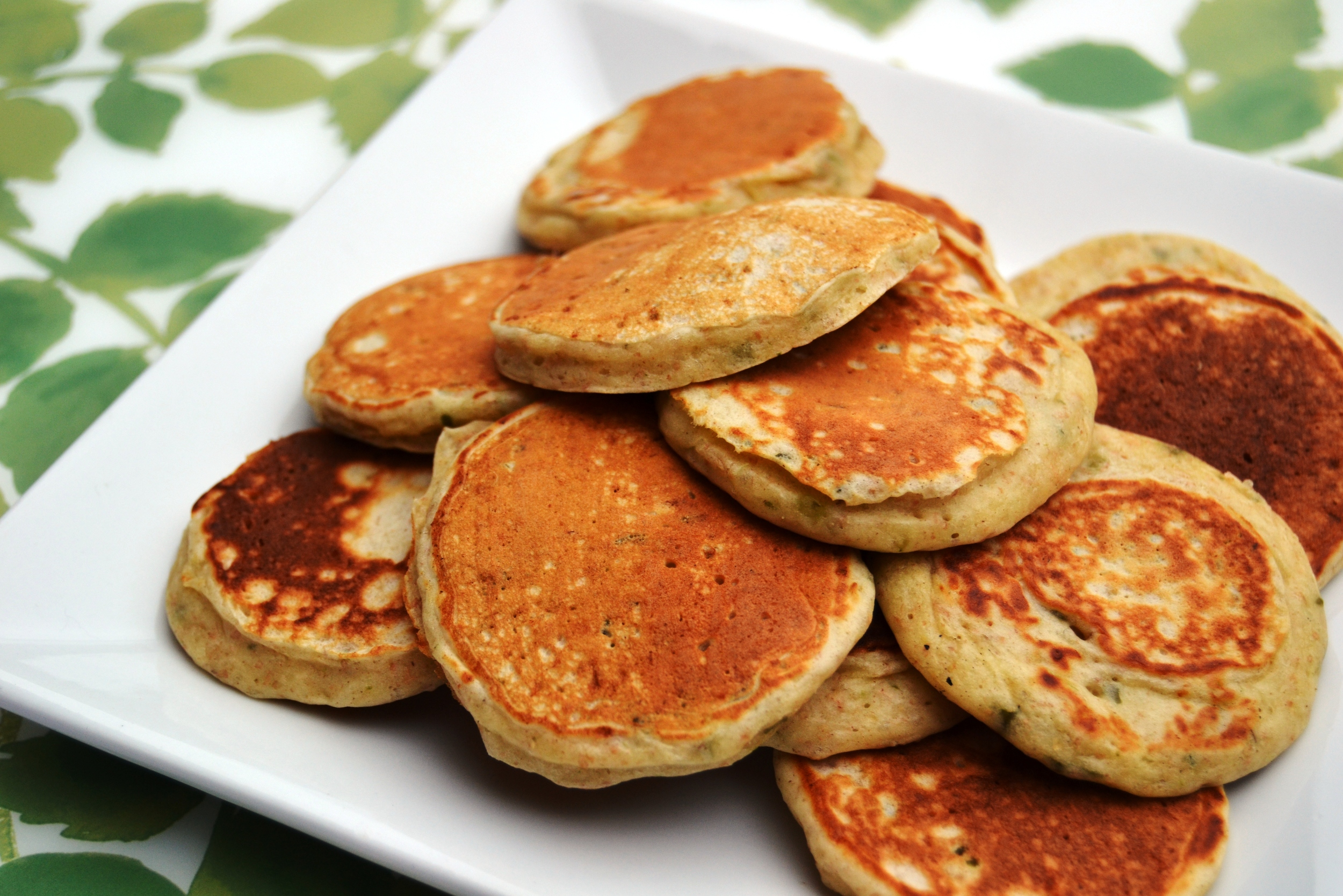 Basil & Cheese Pancakes