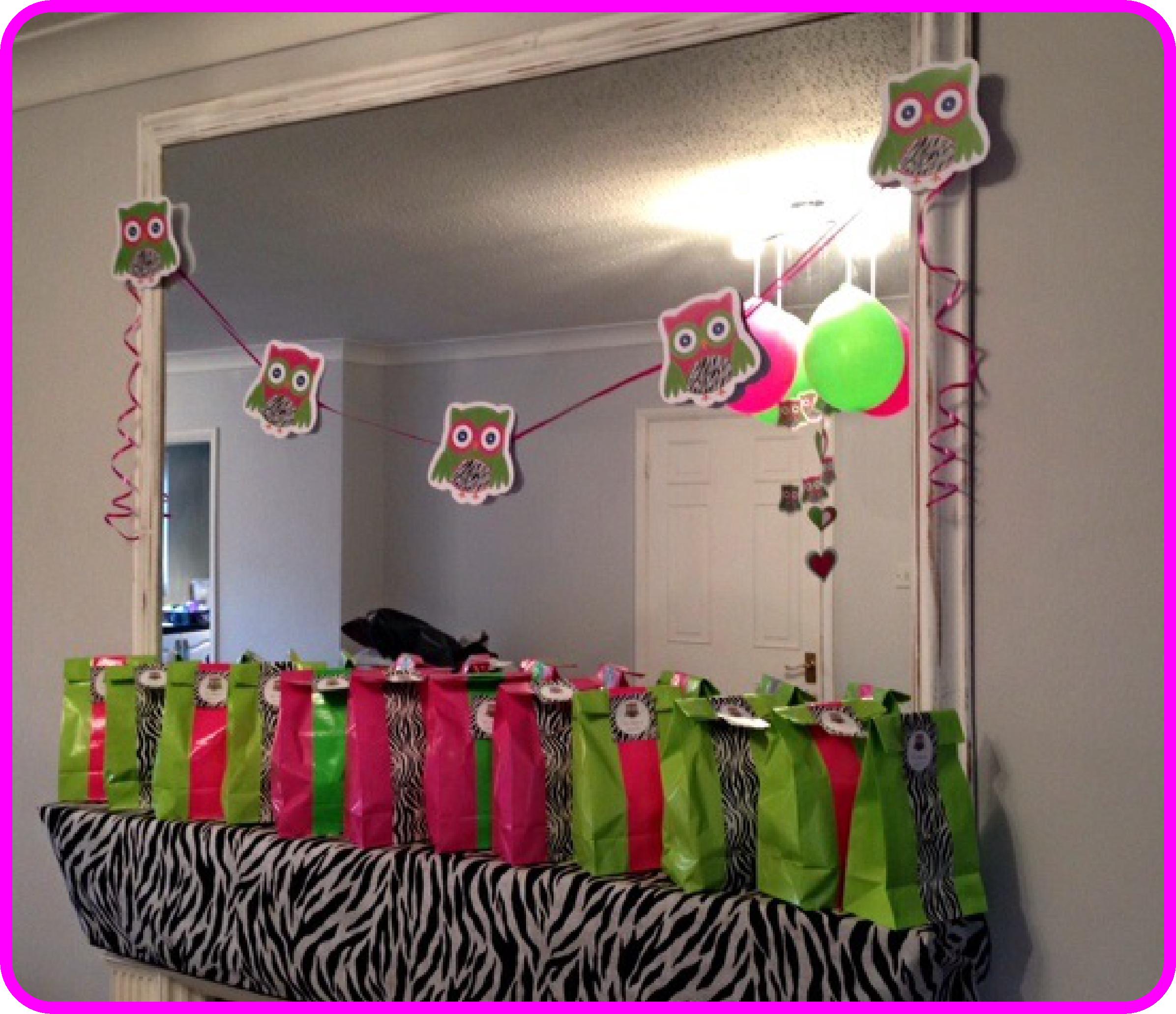 Owl First Birthday Party Decor