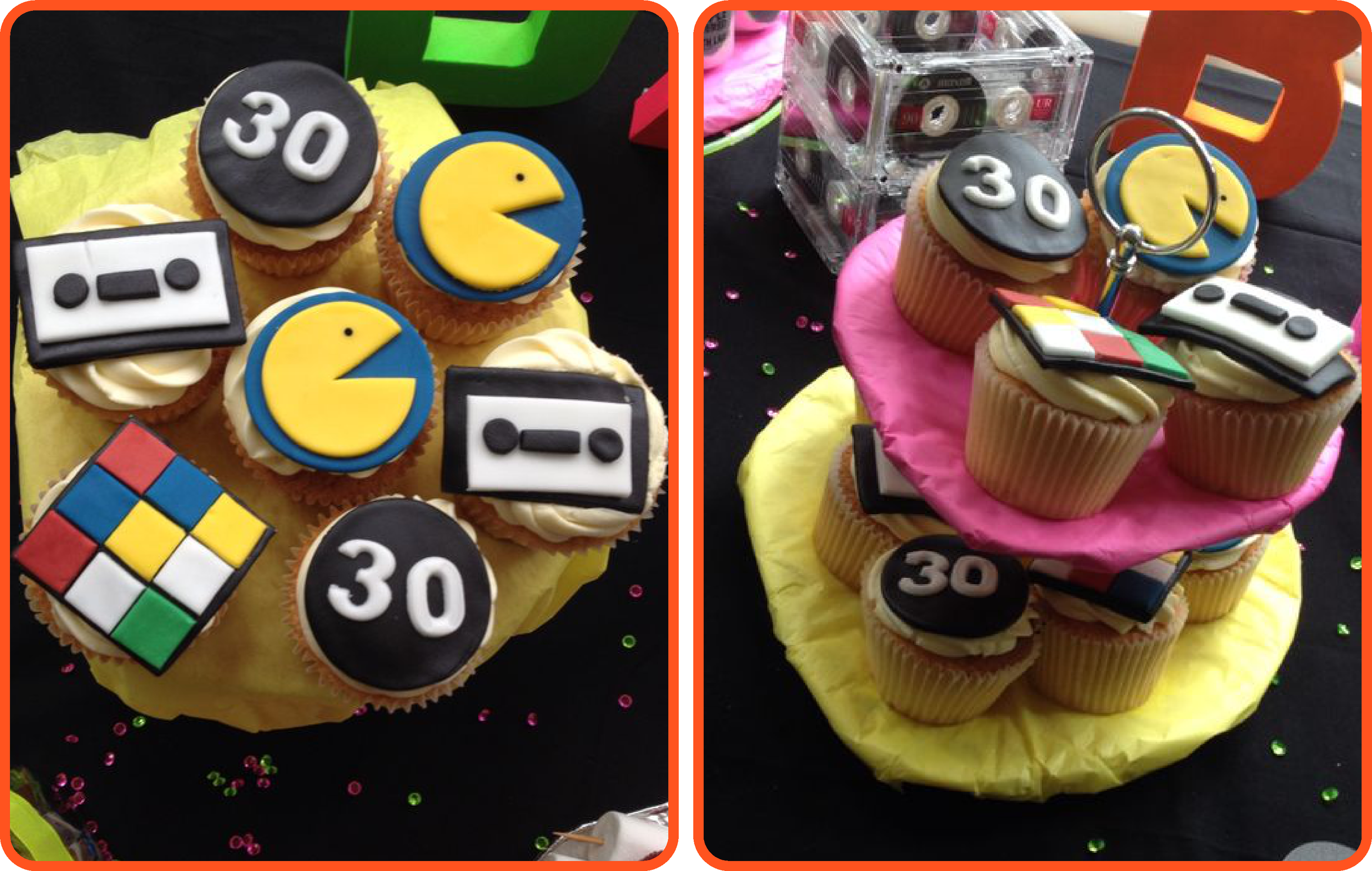 Retro 80's Cupcake Ideas