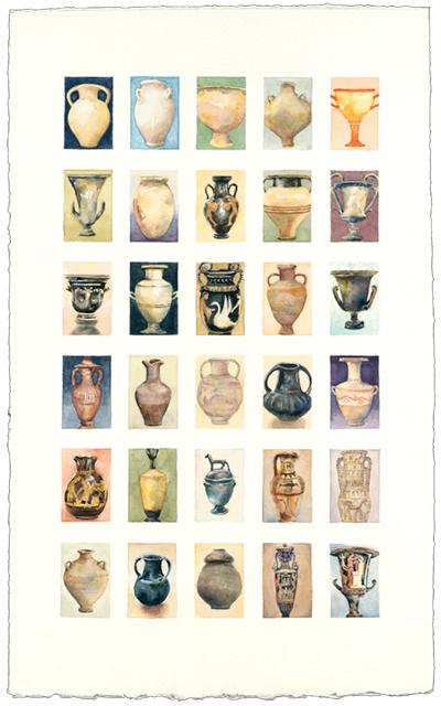 Greek 21 x 13 watercolor SOLD