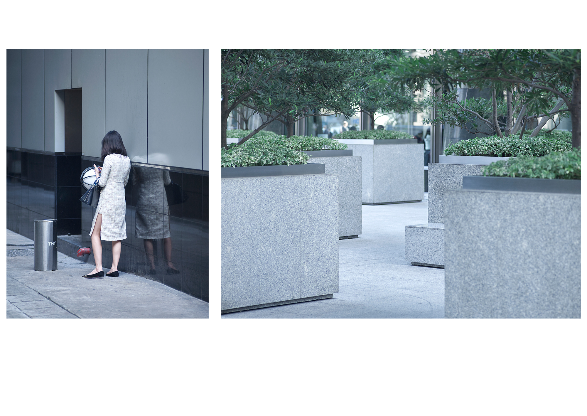 Hong Kong Stillness 7 + 8, 2015, Epson Photo Matt on dibond, oak frame, 45cmx60cm and 80cmx60cm, edition 1/7 + 1 AP