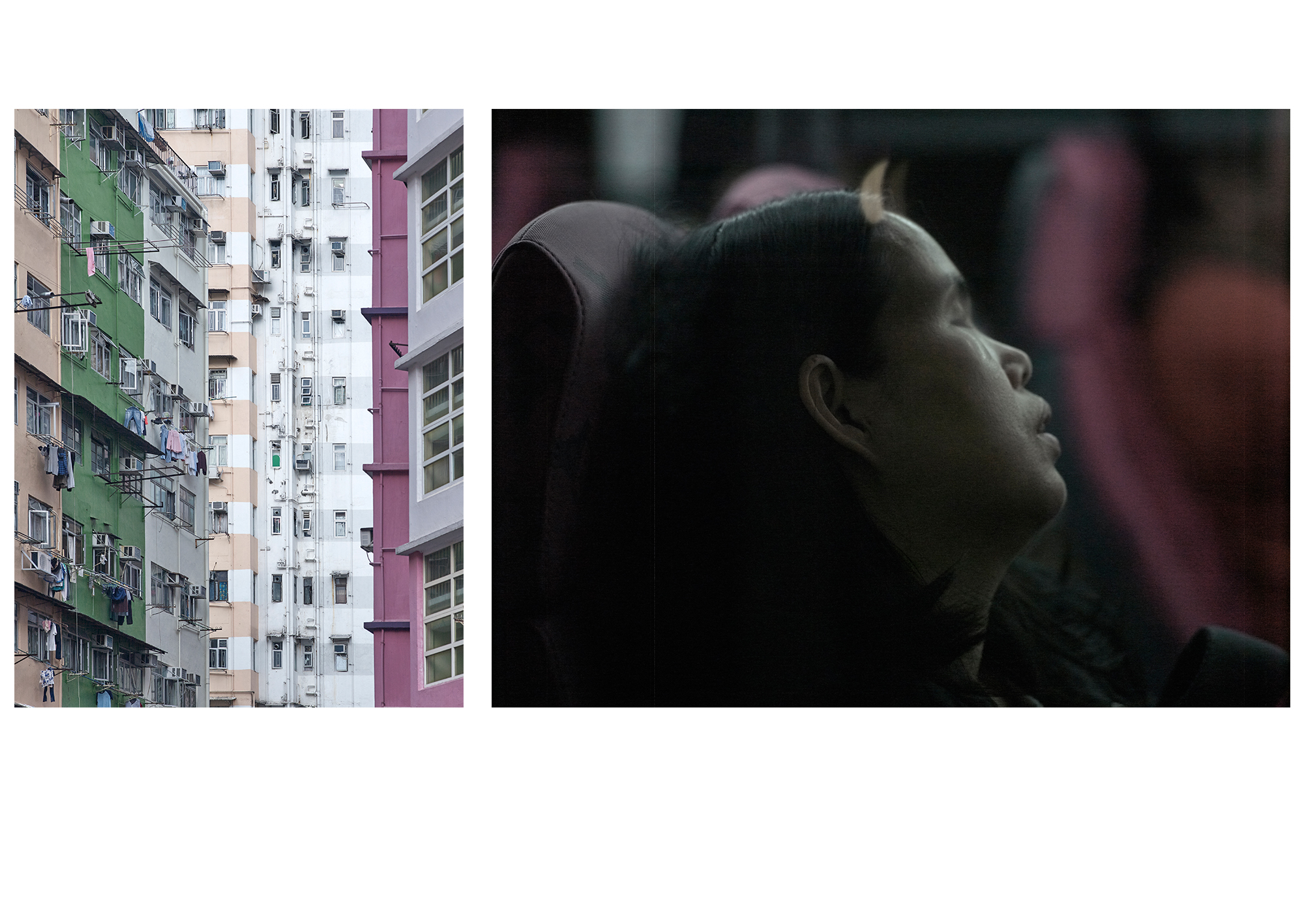 Hong Kong Stillness 11 + 12, 2015, Epson Photo Matt on dibond, oak frame, 45cmx60cm and 80cmx60cm, edition 1/7 + 1 AP