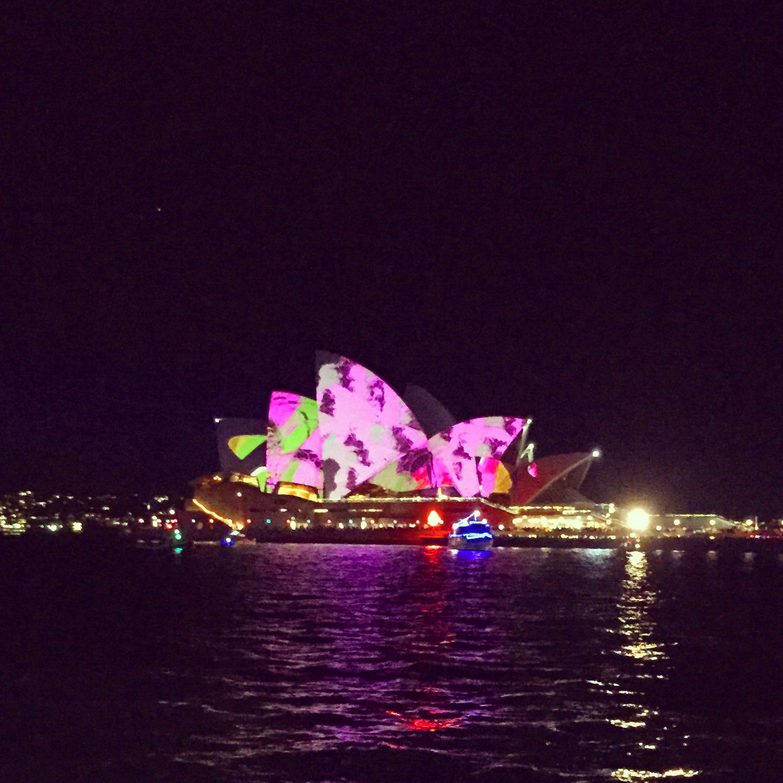 Sydney Opera House during Vivid.