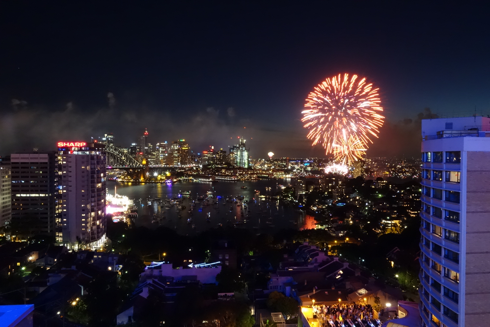 New Year's Eve fireworks, 9 pm show
