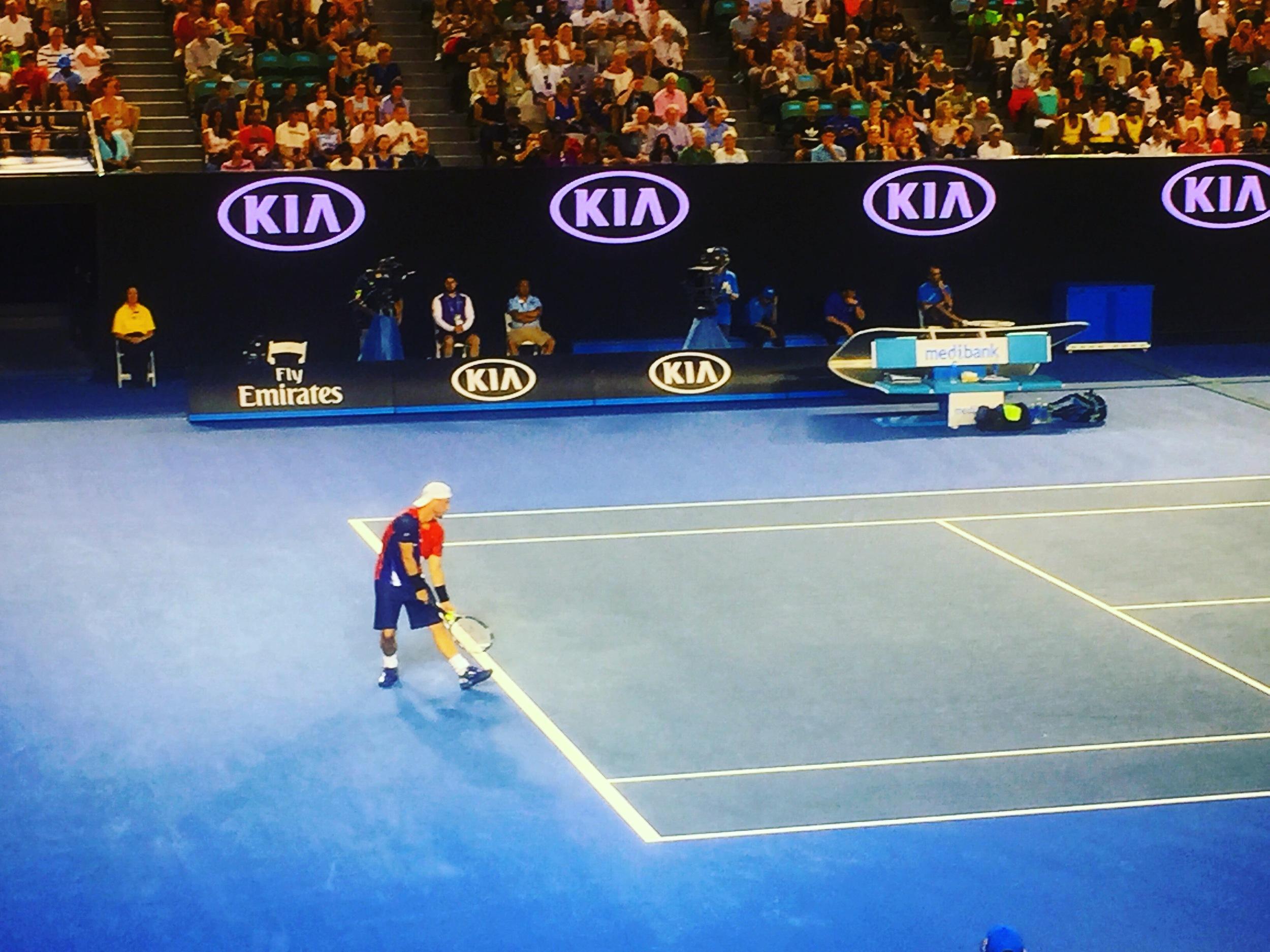 Lleyton Hewitt at the 2016 Australian Open