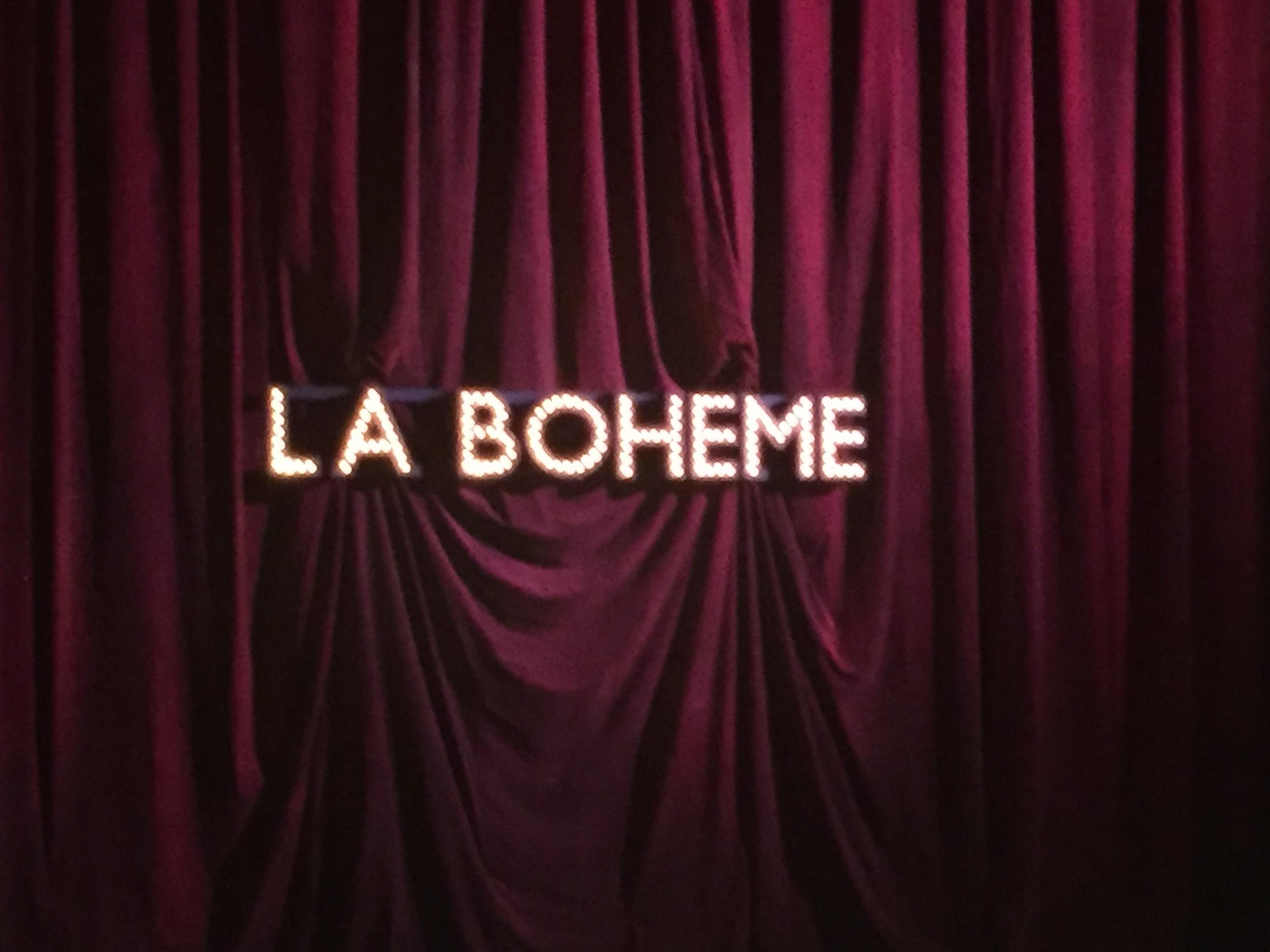 La Boheme at Sydney Opera House