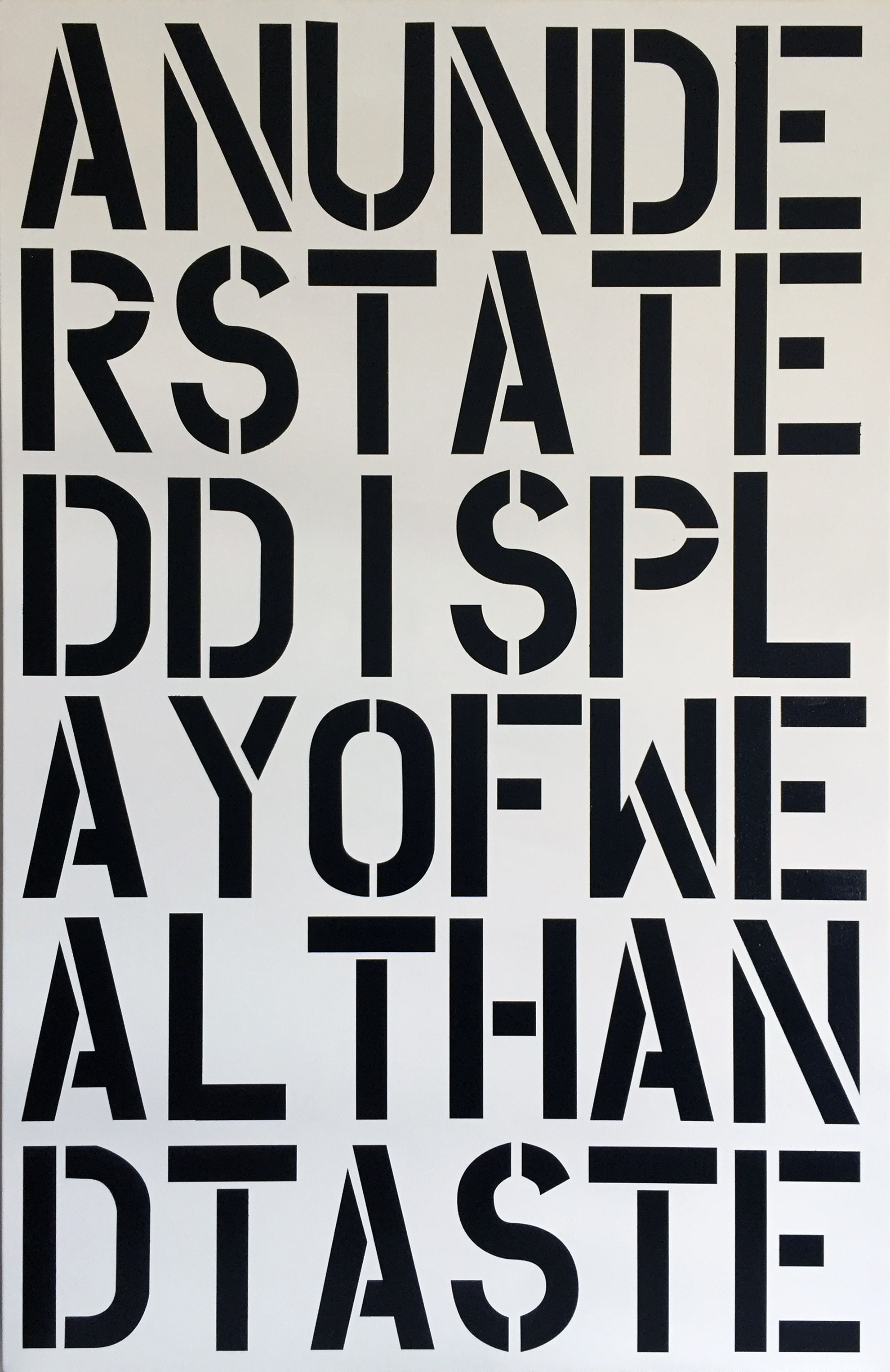 After Christopher Wool – An Understated Display of Wealth and Taste