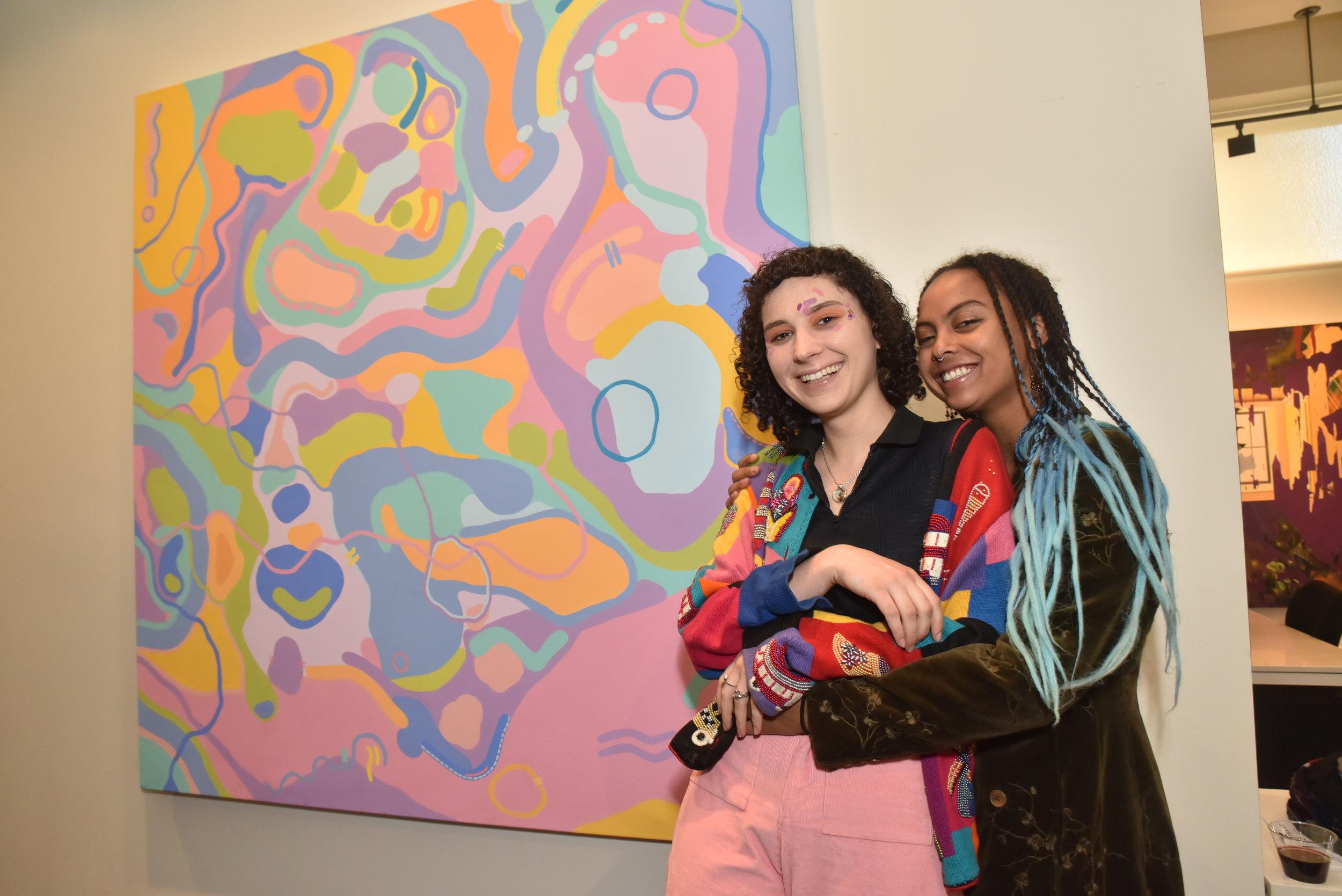Artist: Mo Skye Francis (left)