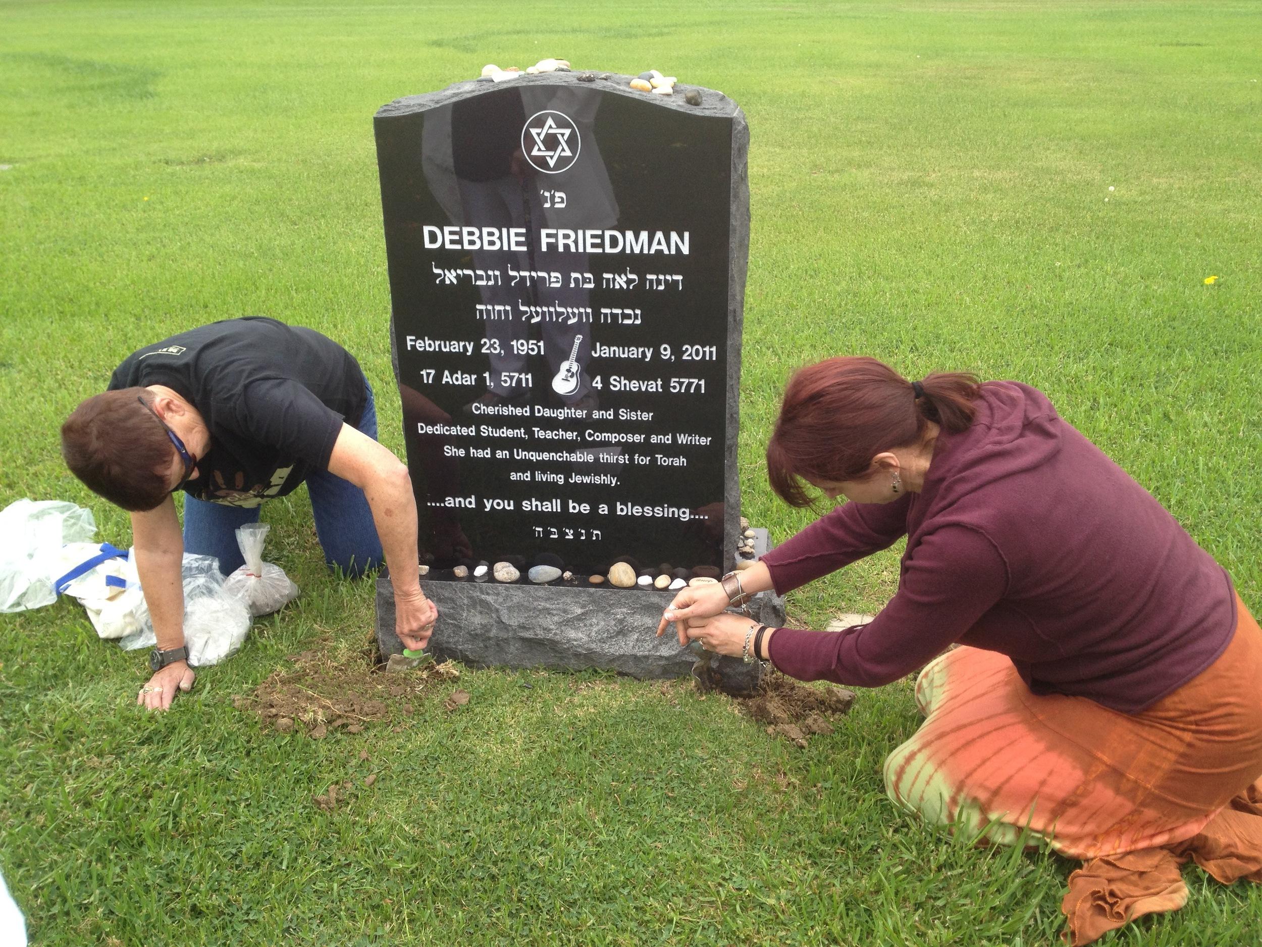 Laying Debbie's beloved dog, Gribeniz, to rest near Debbie.