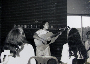 Kutz Camp song session, 1970