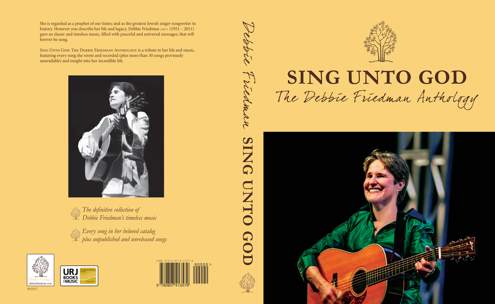 SING UNTO GOD: THE DEBBIE FRIEDMAN ANTHOLOGY is a nearly 500-page master collection of Debbie's entire music catalog. It features lay-flat binding to make music stand or bimah usage easier.