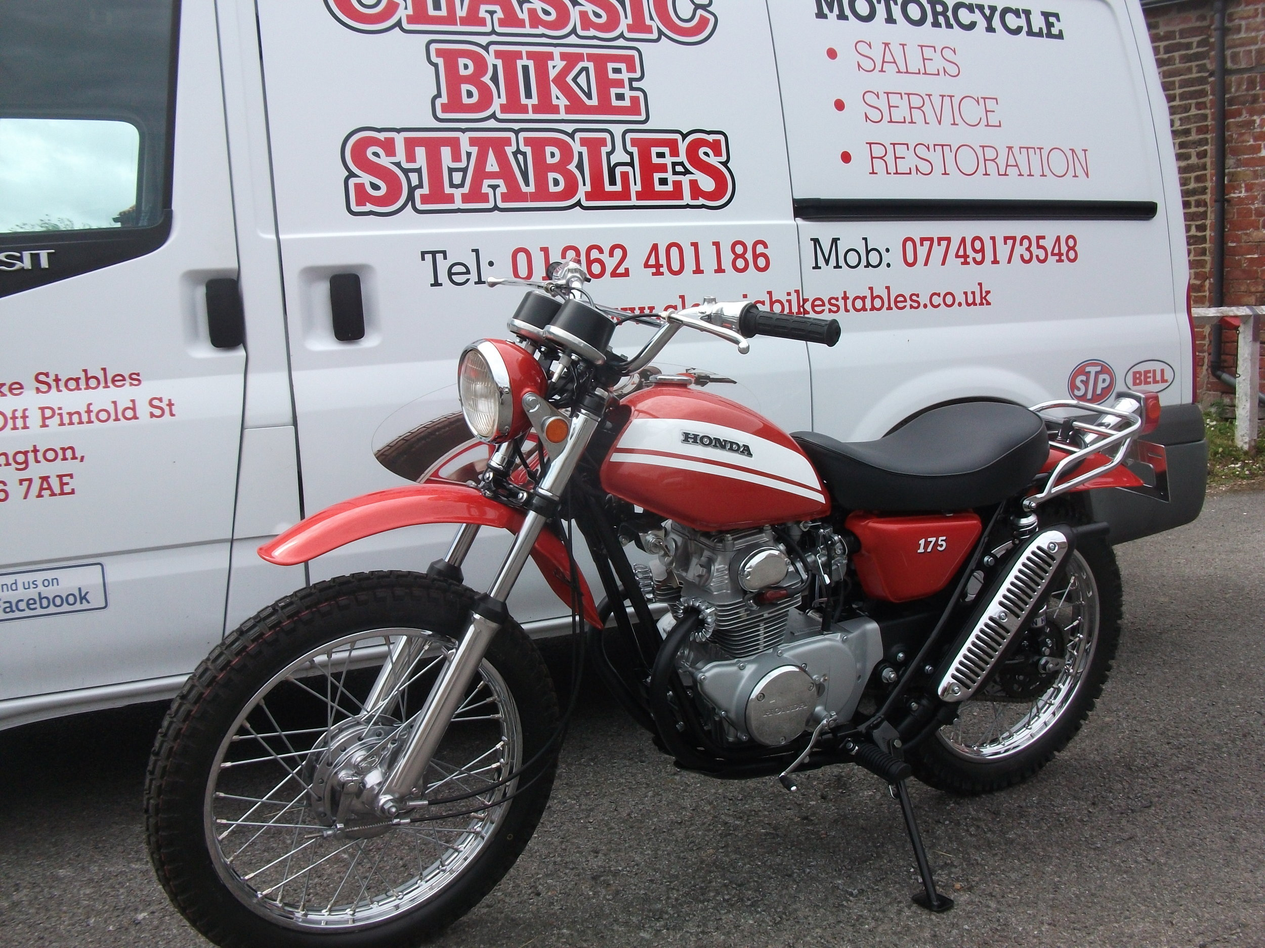 Complete restoration of 1970 Honda SL175 .