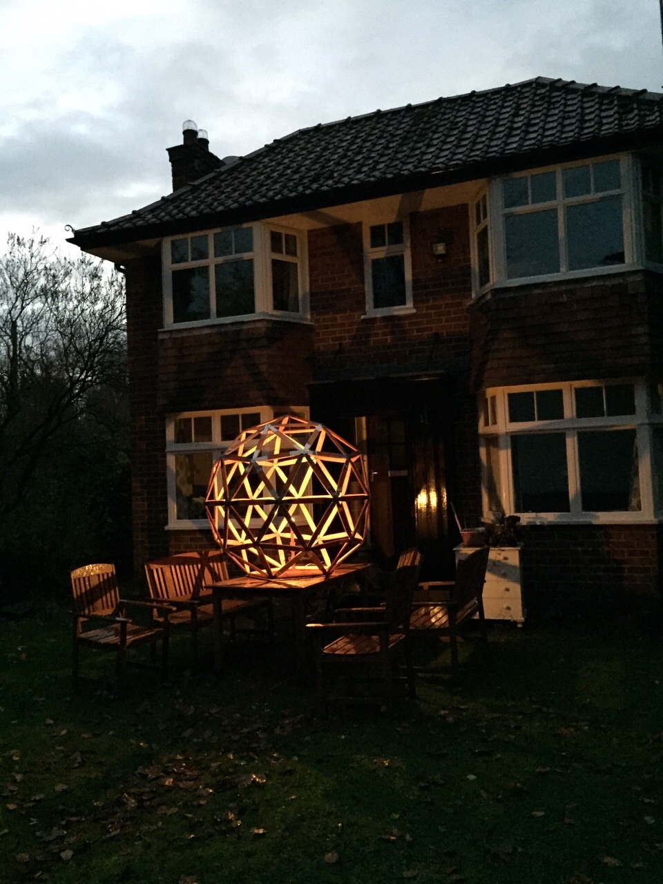 Prices for a geodesic sphere start at £999.00 - please contact me for a quote depending on your requirements
