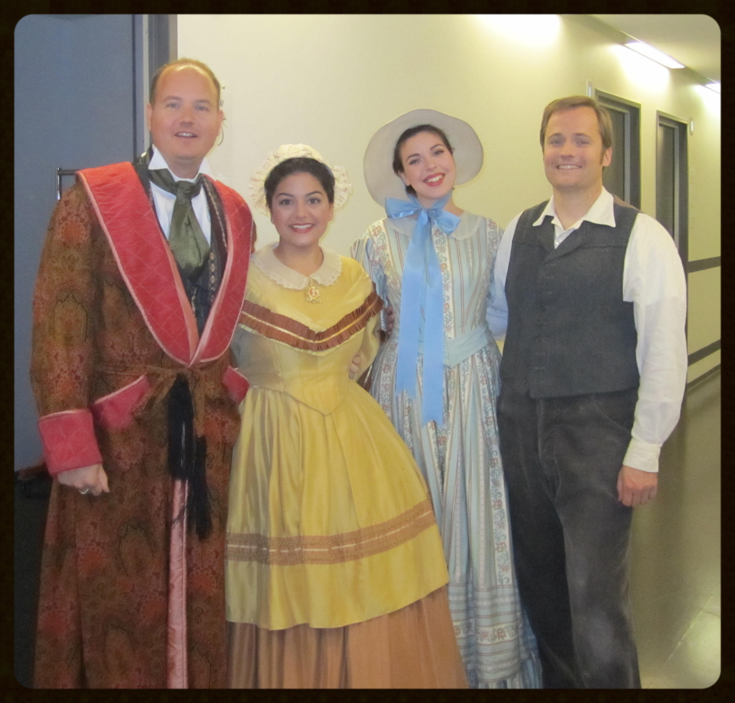 "Christian Bester as ""The Mayor""  Myself as ""Veronica""  Shelby Hendryx as ""Laurette""  Jonathan Yarrington as ""Dr. Miracle"""