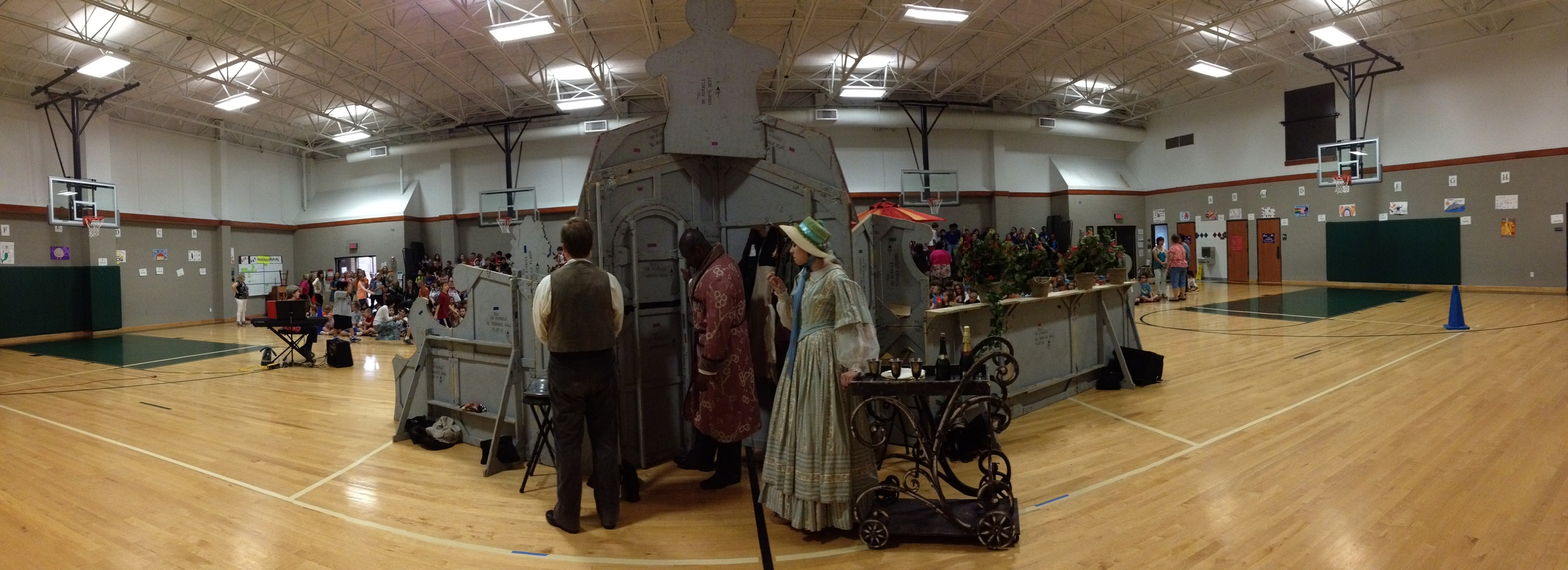Panoramic view from backstage.