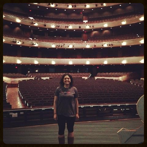 Soaking up every last minute of this experience. On stage before the house opened :-)