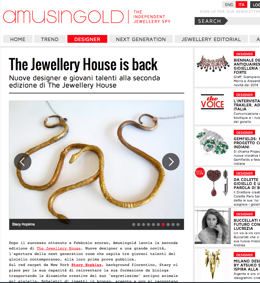 Amusingold The Jewellery House 9/13 MFW