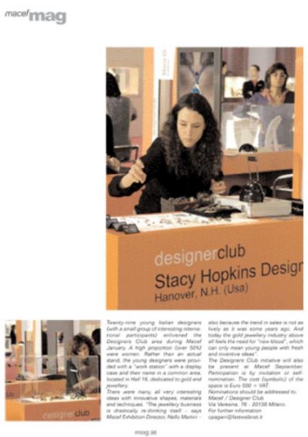 Macef magazine- Designer Club Milan 2008