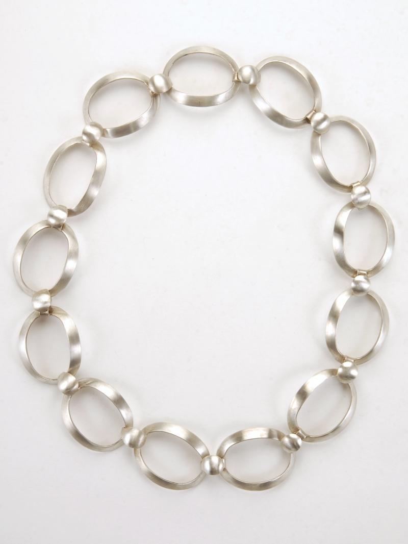 Golden Ration Link Necklace- Sterling Silver  N/CL1