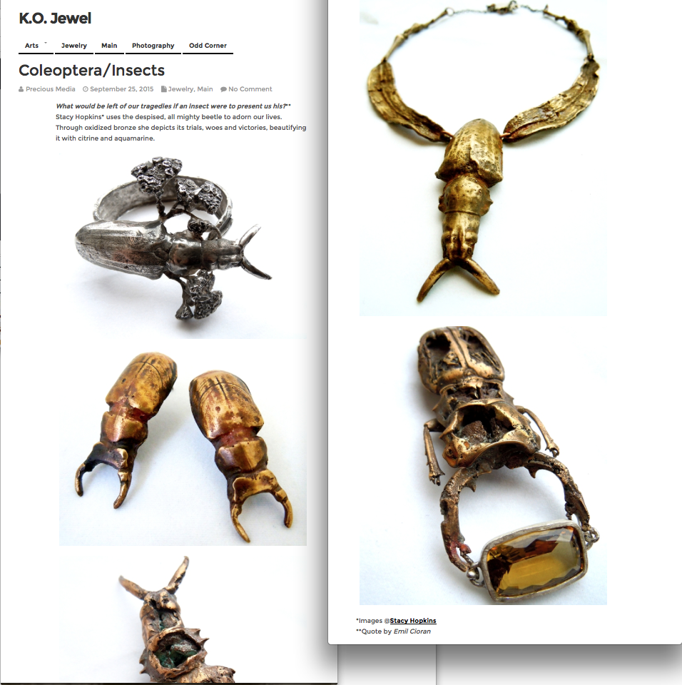 K.O. Jewelry Write-up of my Coleoptera Collection
