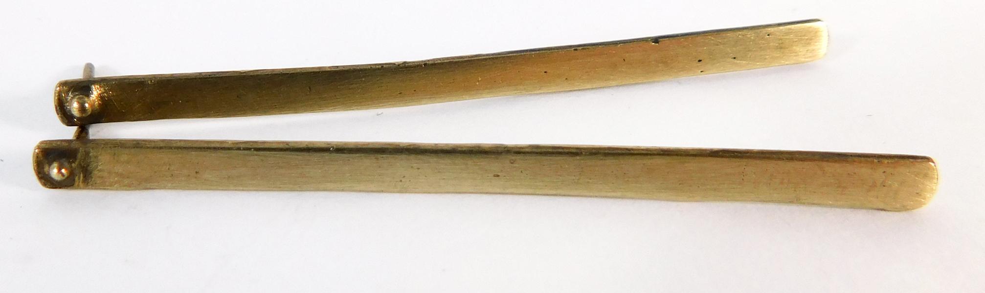 Plank Earrings- Bronze