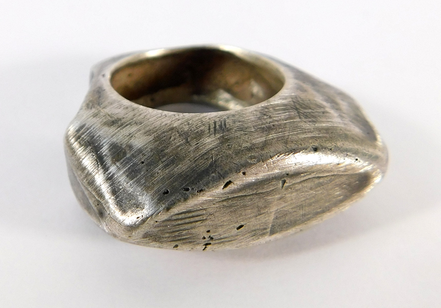 Signature Ring- Oxidized Sterling