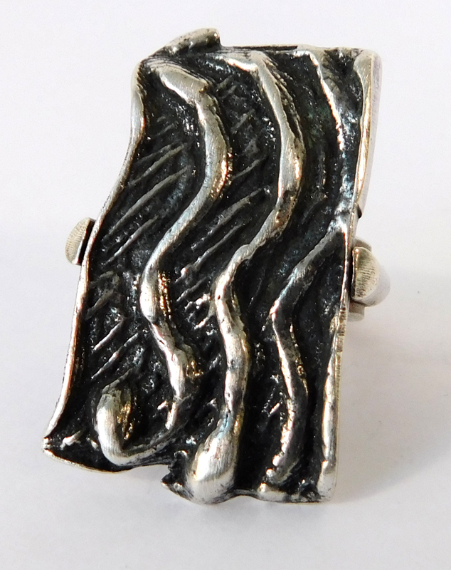 Waves Ring- Sterling