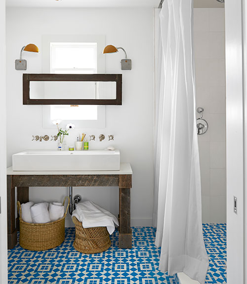 Bathroom via Style by Emily Henderson