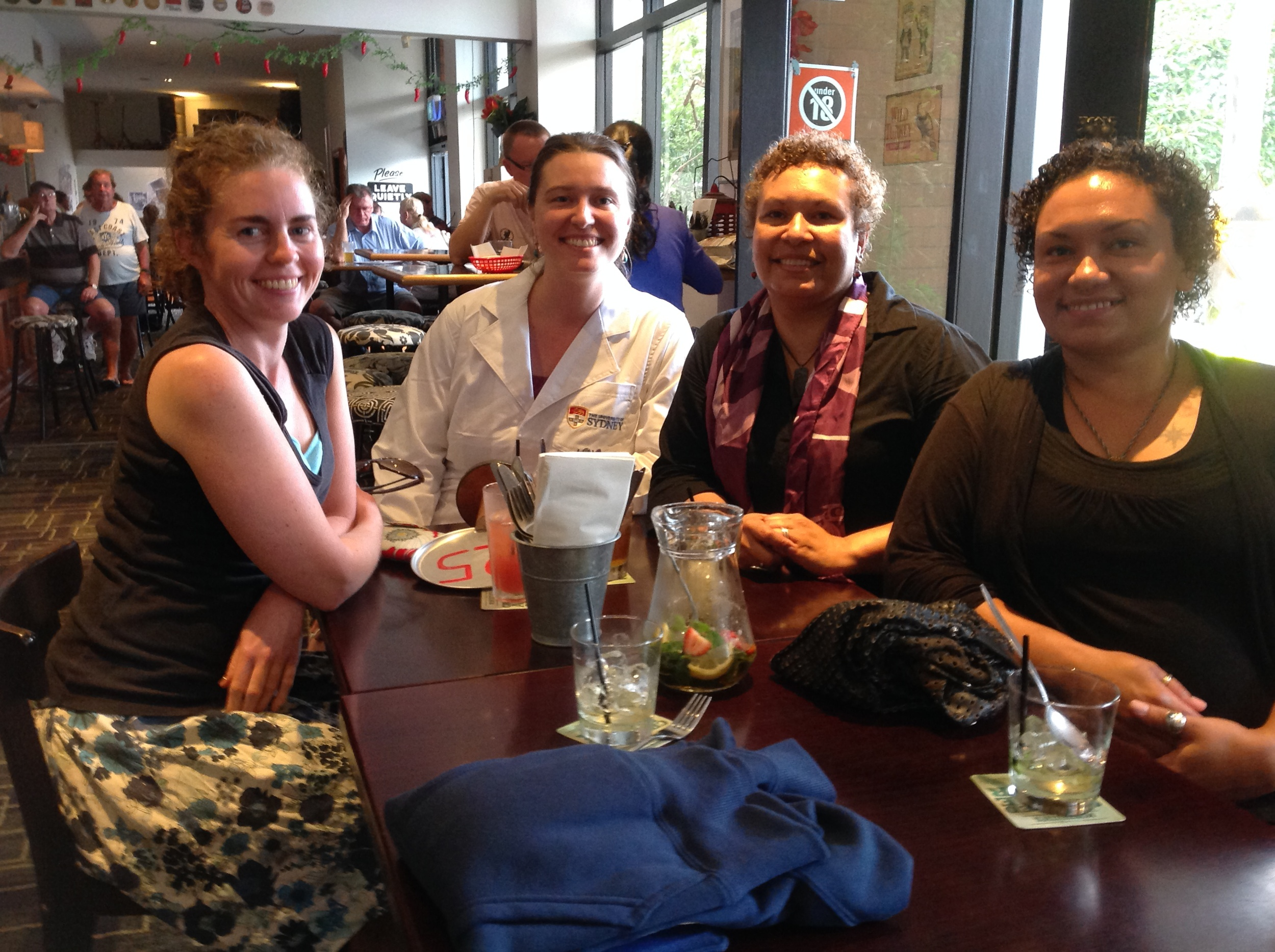 All the ladies… The Forest Lodge Pub, Sydney University - See my lovely new lab coat?