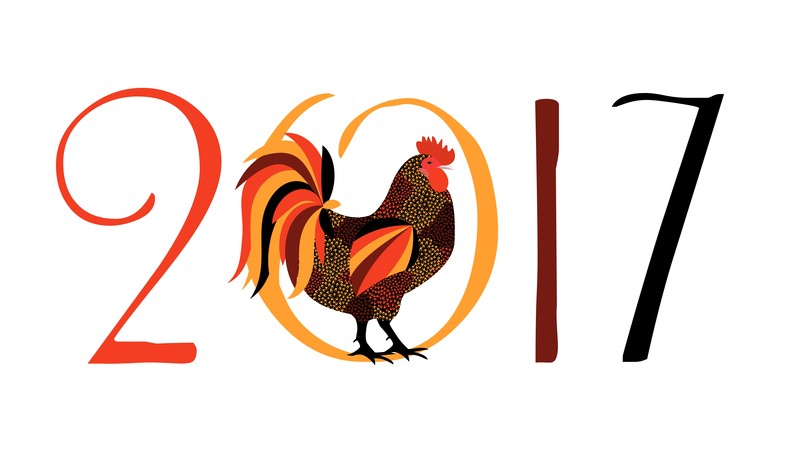 Year of the Fire Rooster : In Chinese culture, Rooster represents fidelity and punctuality, for it wakes people up on time. It is important in this Year of the Fire Rooster to stay focused on one task at a time. The year will be good but chaotic.