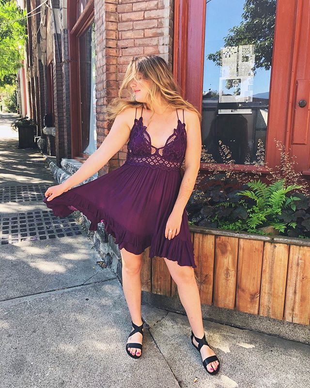 Our new favourite piece ! the Adella slip dress by @freepeople in this eggplant colour is stunning 🍆😏 $120 . . . . . . . .  #ootd #styleoftheday #style #styling #fashionaddict #wardrobe #clothing #outfit #outfitoftheday #styleblogger #fashionbloggers #whatiwore #fashiondiaries #outfitideas #outfitinspiration