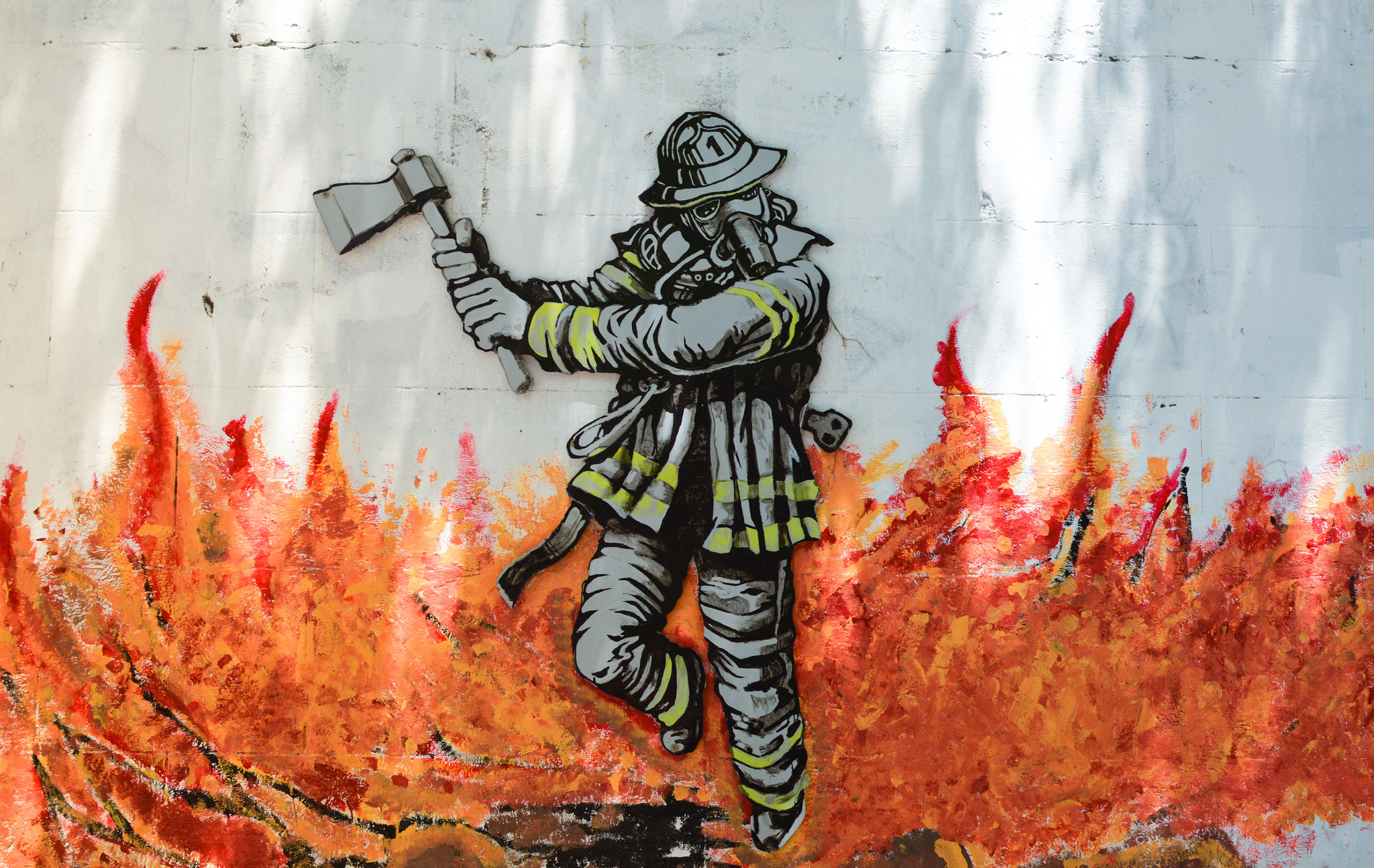 Fireman Graffiti - Boca, Argentina