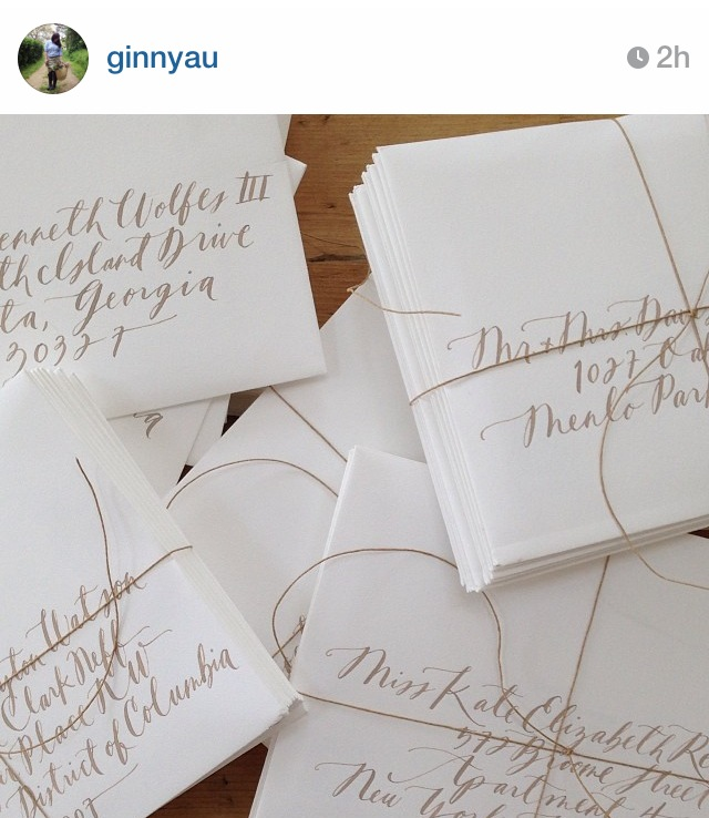 I see far too many photos of calligraphy like this one via Instagram to not want to try it.