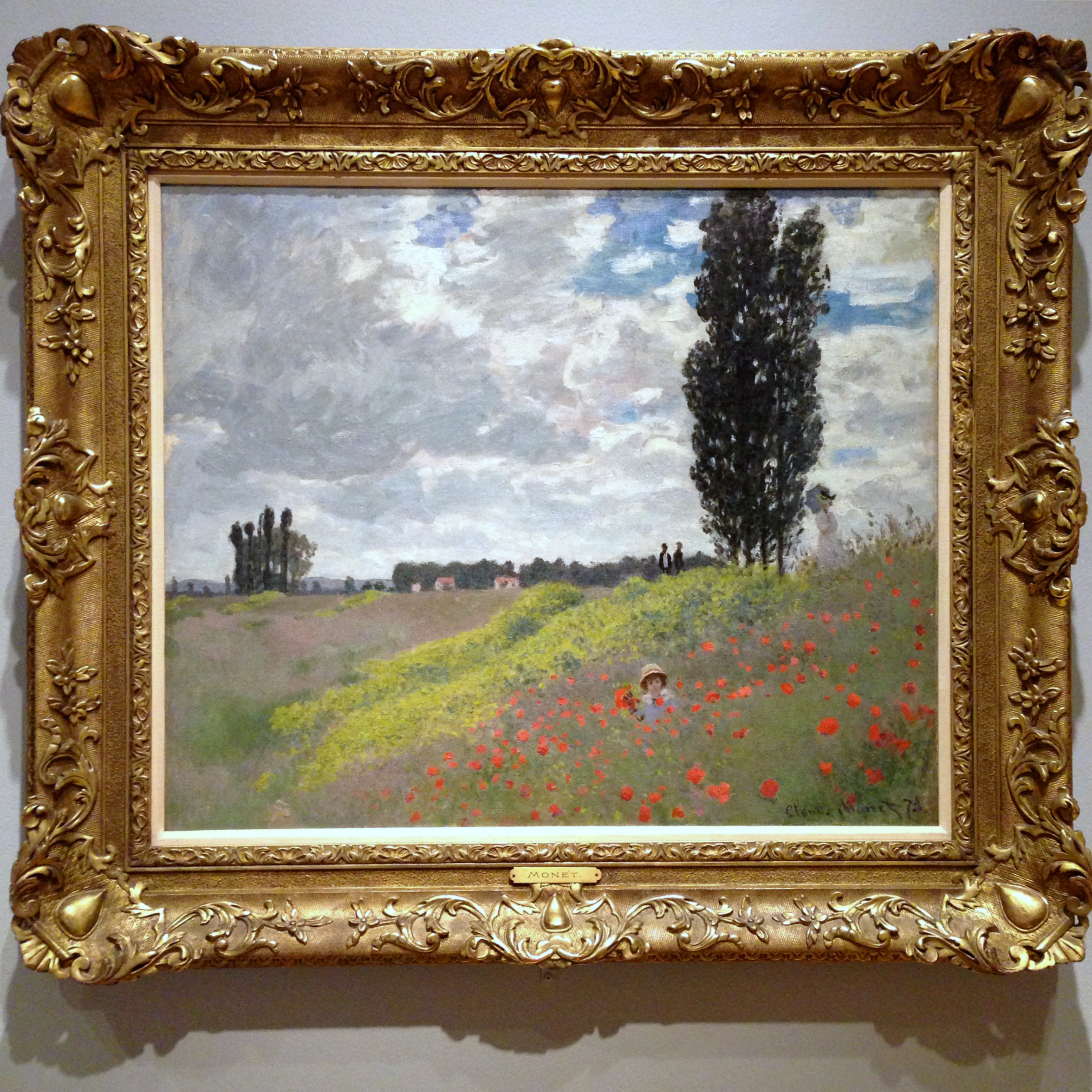 Claude Monet, A Walk in the Fields at Argenteuil, 1873